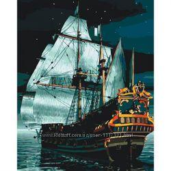 Картина по номерам Флагман ночью 40х50 см Идейка 166598