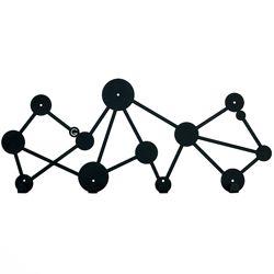 Металлическая настенная вешалка Dots черная