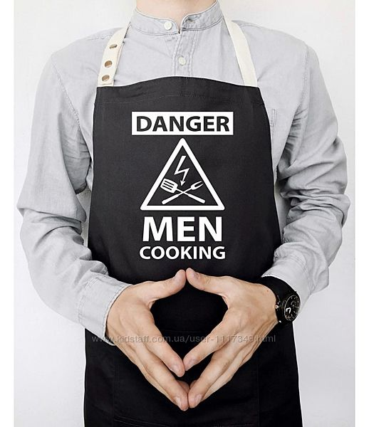 Фартук мужской Danger men cooking черный