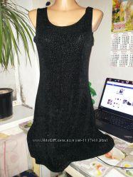 черное блестящее платье сарафан
