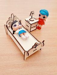 Деревянная эко мебель для кукол Лол LoL