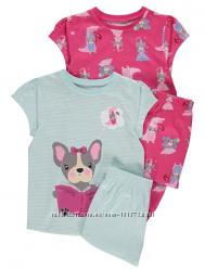 Пижамы для девочки George  7-8лет