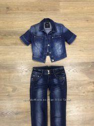 Укорочённый джинсовый пиджак s