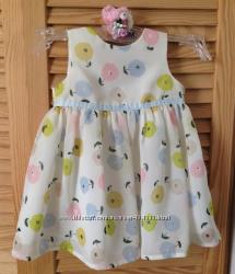 Нарядное платье 3-10мес как новое