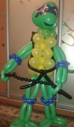 Черепашка Ниндзя из воздушных шариков
