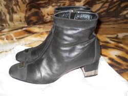 Ботинки Италия, натуральная кожа, замша, лак. Стелька 27 см