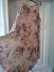 Платье Италия большого размера 54-56р, хлопок лен.