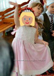 Нарядное платье для девочки в цветочках