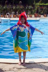 Полотенце-пончо для пляжа с мульт. героями  в наличии