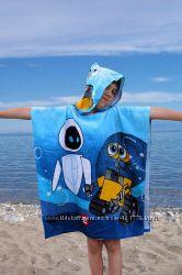Полотенце-пончо для пляжа в наличии