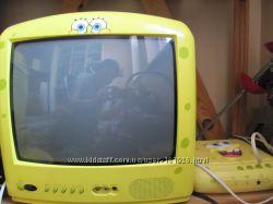 Телевизор и DVD-плейер  в теме Sponge Bob Спанч Боб Губка Боб