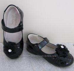 Туфли нарядные черные лакированные FALCOTTO by Naturino на девочку  р. 23