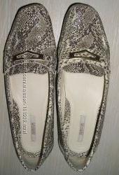 Мокассины туфли женские GEOX расцветка под питона и синие, р. 37