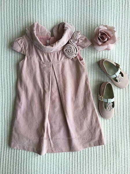 CHICCO Платье нарядное на девочку 2-3 г