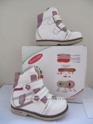 Ботиночки зимние на меху для девочки ортопедические стелька с супинат р25