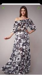Платье длинное шифон р.38 на 44 может подойти на 42 и 46