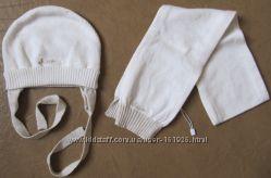 CHICCO Шапочка и шарфик-комплект новый для девочки  42см-9 мес
