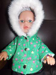 Зеленый Комбез в сердцах. Одежда для кукол Baby Born
