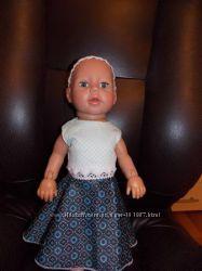 Одежда для кукол Baby Born. Лимитированное Платье  с кружевом и повязкой