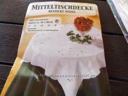 Новая Немецкая Белая Скатерть 80 на 80. Германия 100 хлопок.
