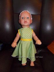 Одежда для кукол Baby Born. Лимитированное Платье в горошек с повязкой