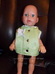 Жилетка для Кукол Baby Born и др. 40-45см. салатная с кружевом