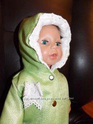 Куртка для Кукол Baby Born и др. 40-45см. салатная с кружевом