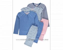 Новые пижамы на девочку  8-9, 9-10, 10-11, 11-12 лет от George, Англия