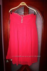 Новое нарядное шифоновое платье 46 европ, наш 52-54 размер