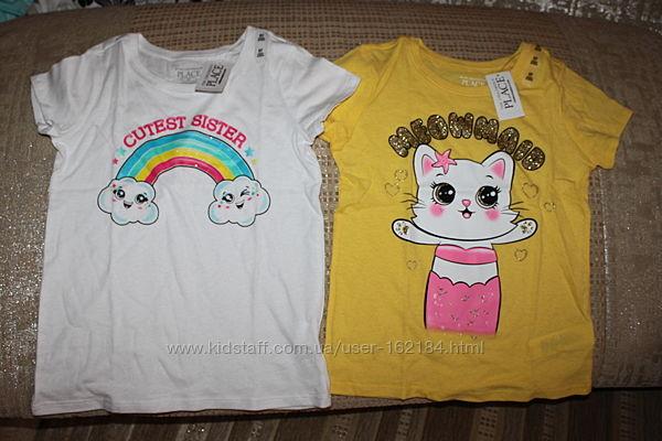 Новые футболки девочке 3, 4, 5, 6 лет от Childrens place