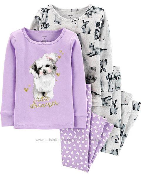 Новые фотокотоновые пижамы на девочку 4, 5 лет от  Carters