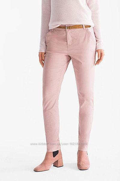 Нежнорозовые брюки 46 евроразмер, наш 52, 54 от Kiabi