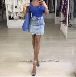 Юбка джинсовая Италия Kontatto, Joie Clair крутые модели.
