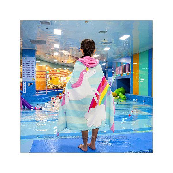 Полотенце махровое с капюшоном, для девочки. 76127 см.