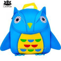 Рюкзак для девочки и мальчика из неопрена. Сова, голубая, оранжевая