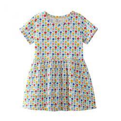 Платье для девочки. Нежные цветы. Хлопок 100 Новинки 2019