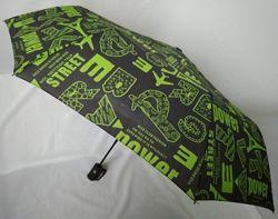 Зонт полуавтомат женский Ziller с модным принтом