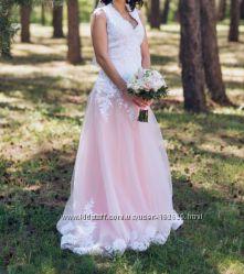 Платье свадебное ручной работы.