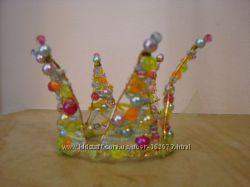 Корона Принцесса весны из бусин и бисера