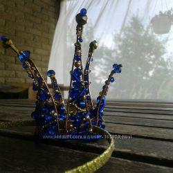 Короны из бисера и бусин  к Новому году и новогодним костюмам Жемчужная