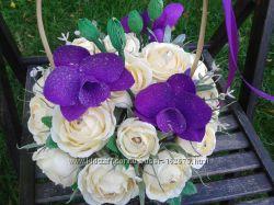 Конфетная композиция Орхидея в розах