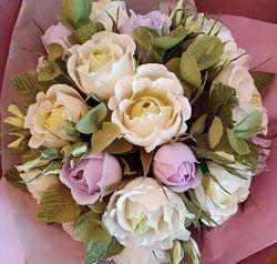 Букет из конфет. Букет цветов с конфетами. Ручной букет.