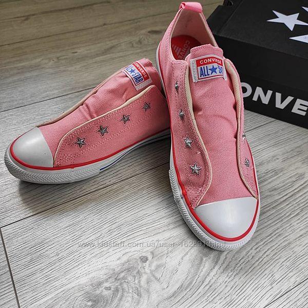розовые кеды Converse