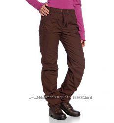 Темно-коричневые утепленные штаны с немецкого сайта C&A, размер 140