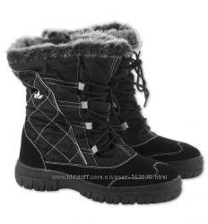 Красивые черные зимние сапожки для девочки с C&A, размер 31