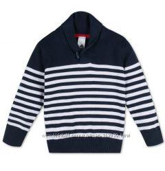 Темно-синий хлопковый свитерок для мальчишек за полцены, р-ры от 92 до 116
