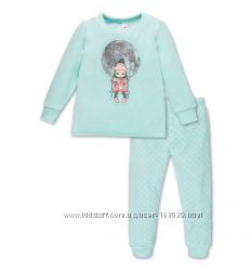Велюровая пижамка для девочек с сайта C&A, р-ры 98-104, 110-116