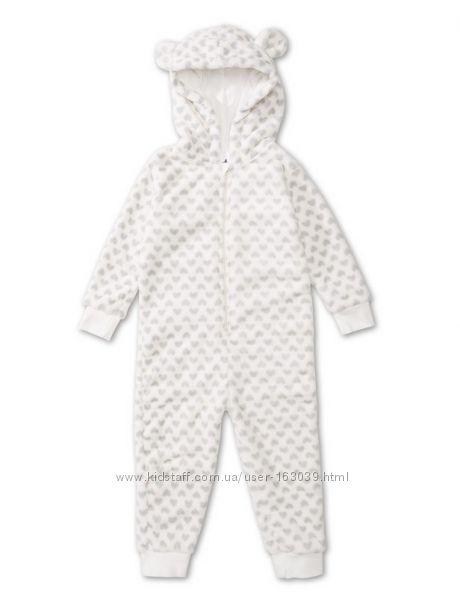 Тепленькая пижама комбинезон для деток из Германии с сайта C&A, р-р 98-104
