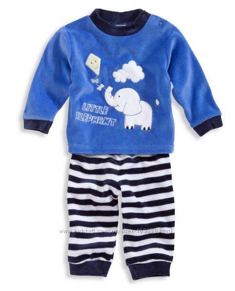 Велюровая пижамка для малышей из Германии с сайта C&A, р-ры 80, 86