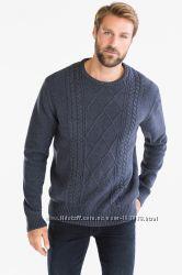 Темно-синий плотный свитер с шерстью из Германии с С&A, р-р 2XL